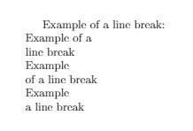 Latex Line Break